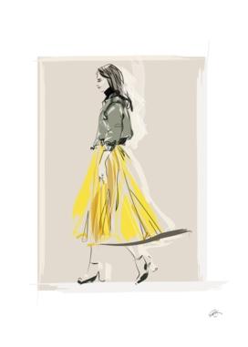 the yellow skirt