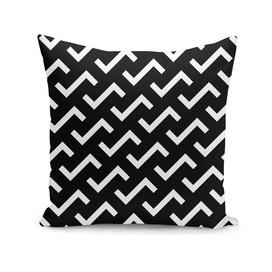Geometric Pattern #36 (black white S shape pattern)