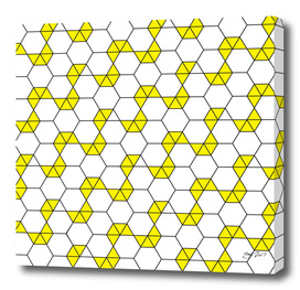 Geometric Pattern #47 (yellow hexagon)