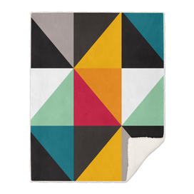 Geometric Pattern #31 (yellow red green curves)