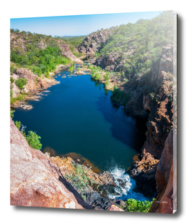 Panoramic view from above at Edith Falls, Australia.
