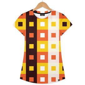 Geometric Pattern #74 (Stripes & Squares)