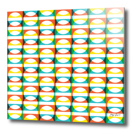 Geometric Pattern #171 (colorful circle squares)