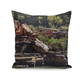 Rocky cliff face at Katherine River Gorge, Australia
