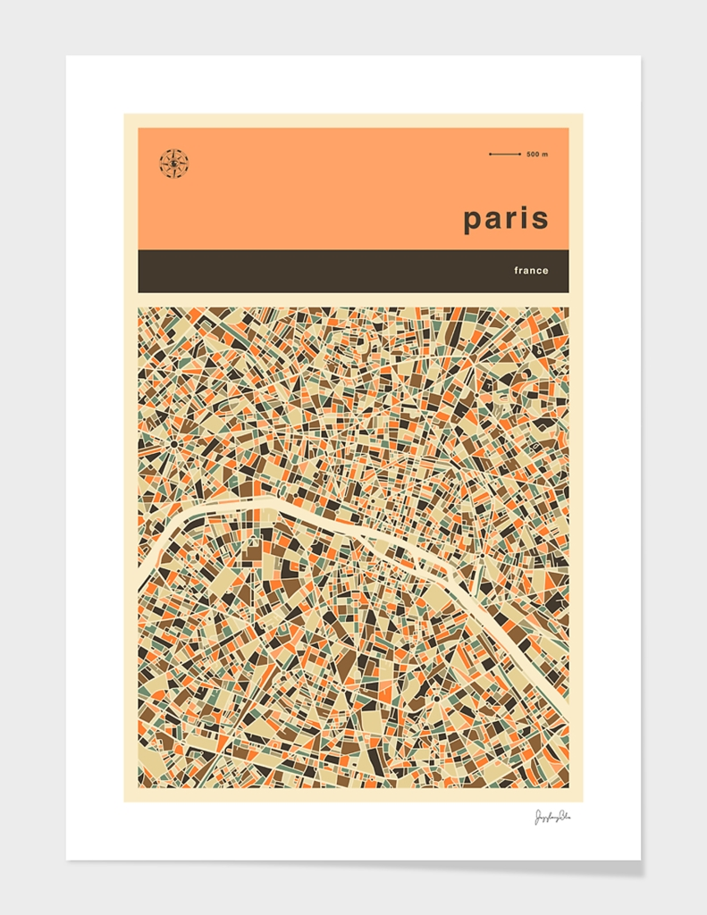Paris Map main illustration