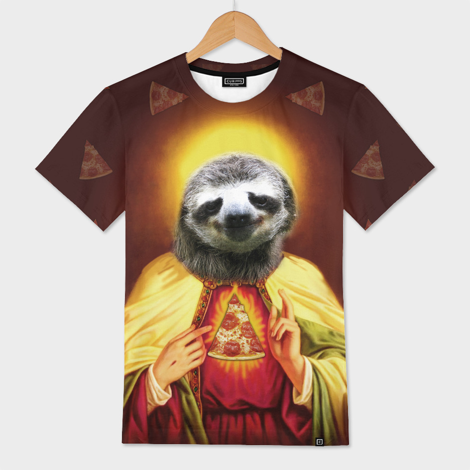 Holy Pizza Sloth Lord Jesus All over big print Animal