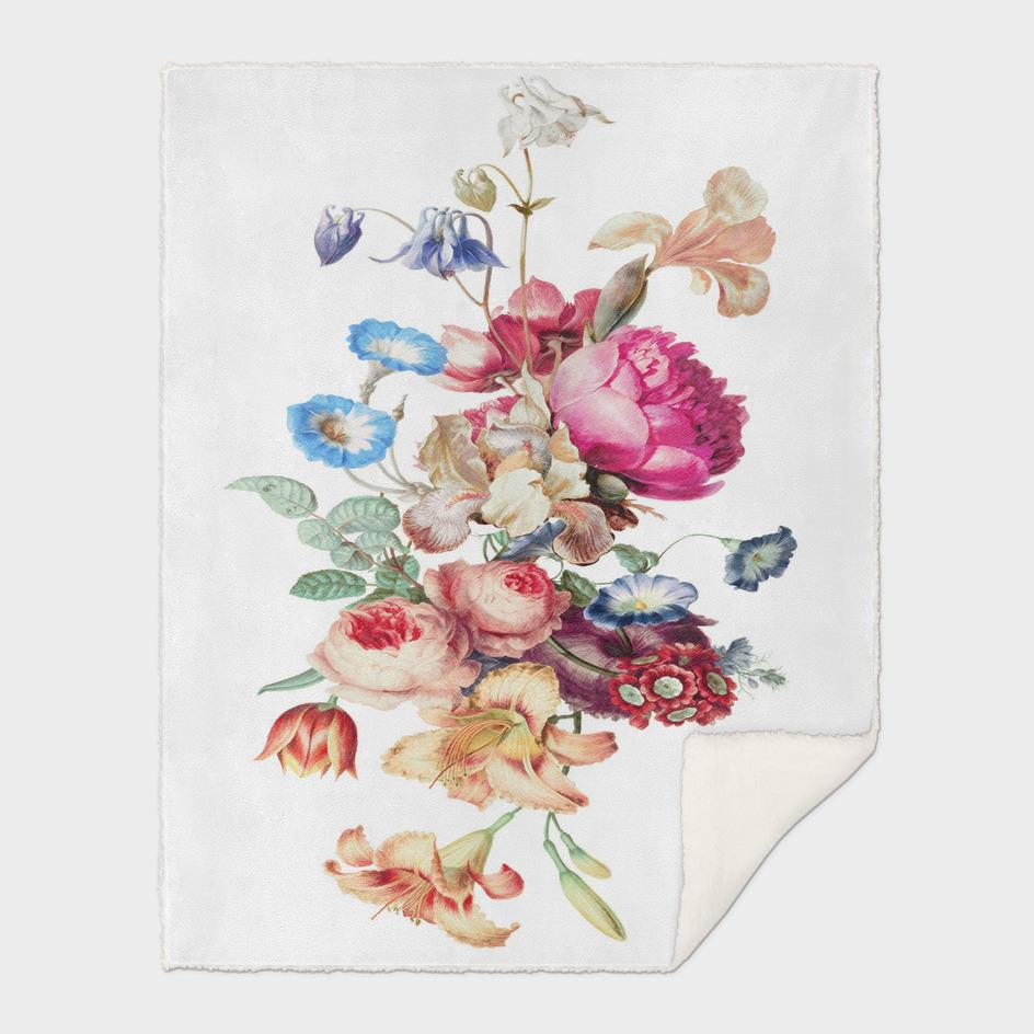 Fleur vintage floral painting