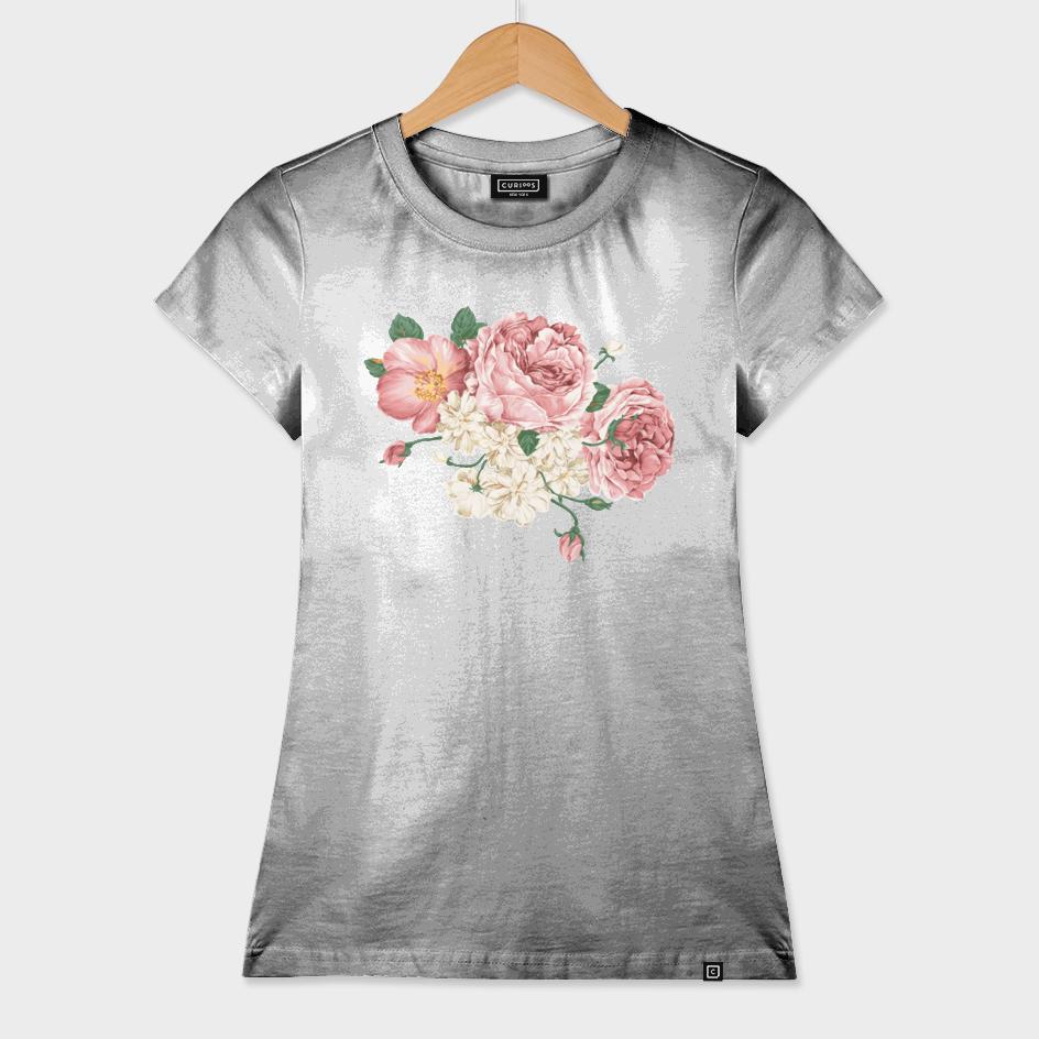 Retro Rose water Color