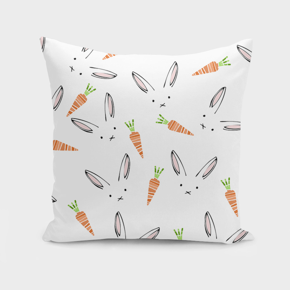 Rabbit Carrot Pattern Weft Step face