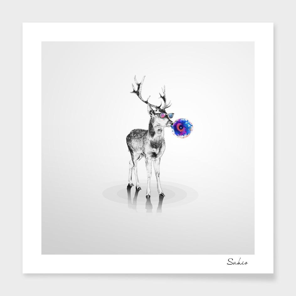 Trippy Deer main illustration