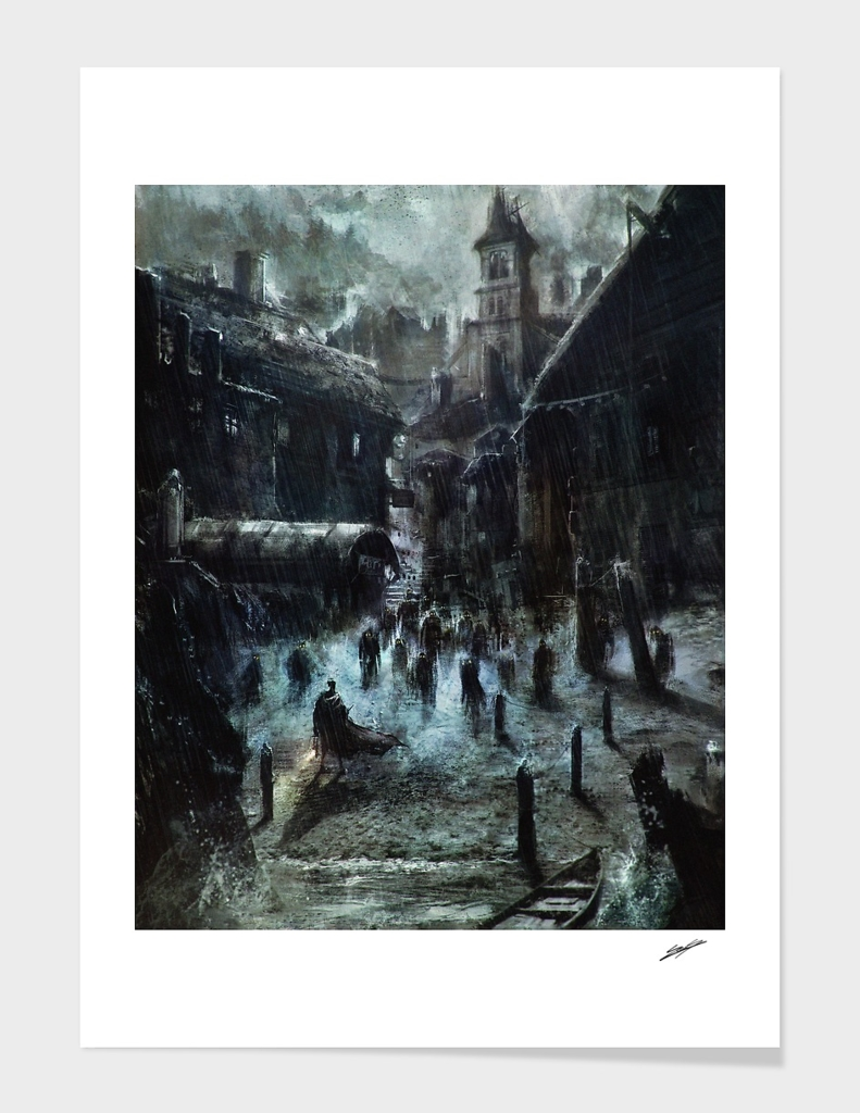 Hp Lovecraft 's Innsmouth (colour version) main illustration