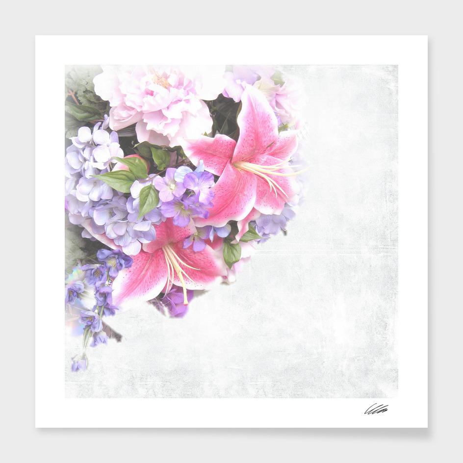 Vintage Flowers Lily main illustration