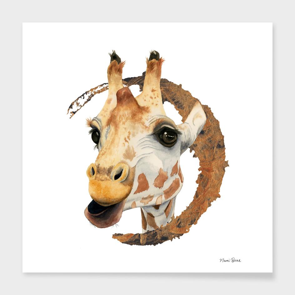 Chew 2   Giraffe Watercolor Painting