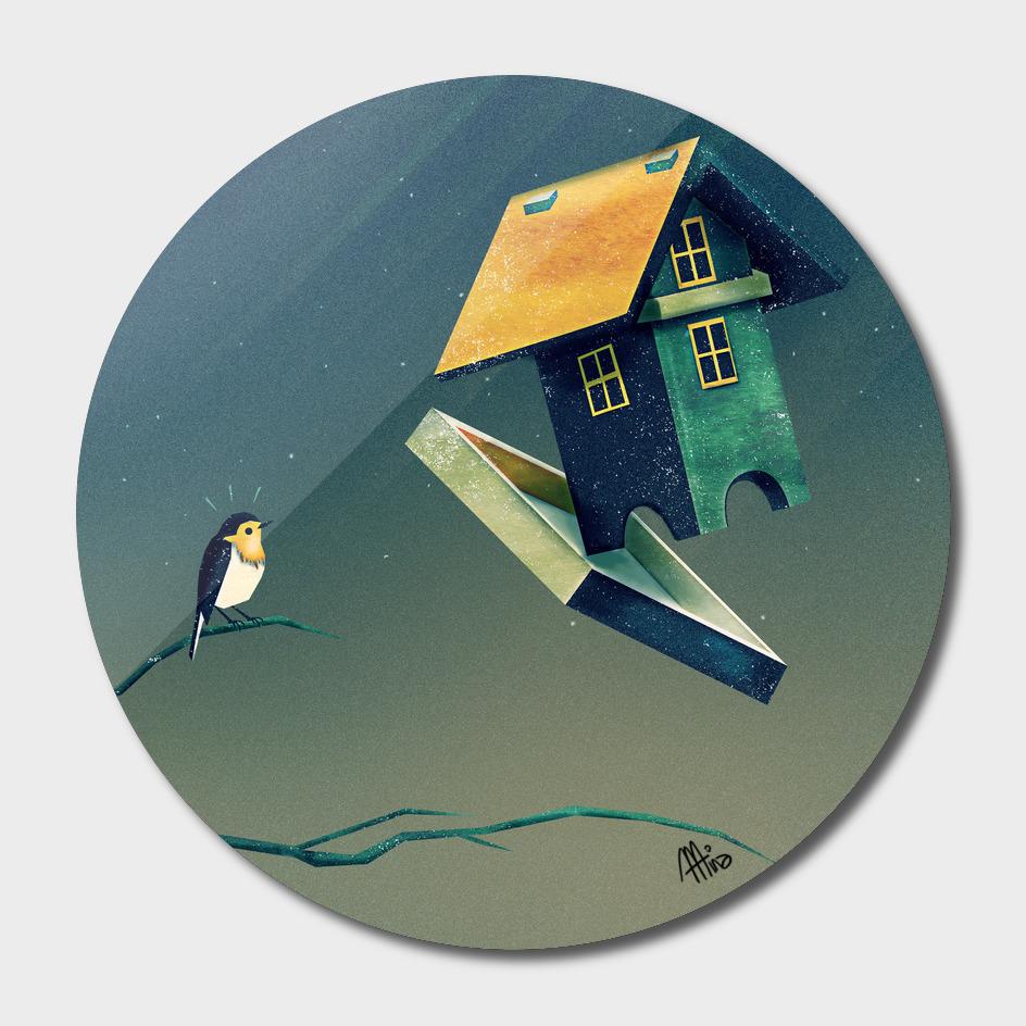 Flying Bird...house main illustration