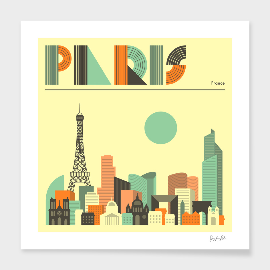 Paris Skyline main illustration