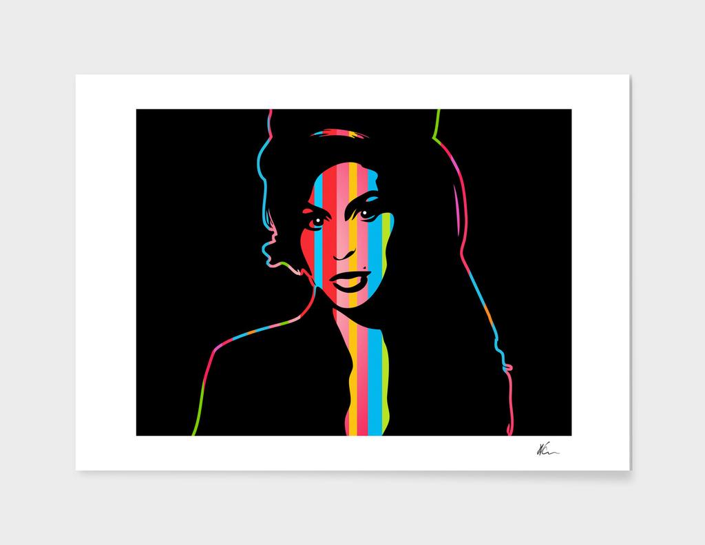 Amy Winehouse   Dark   Pop Art