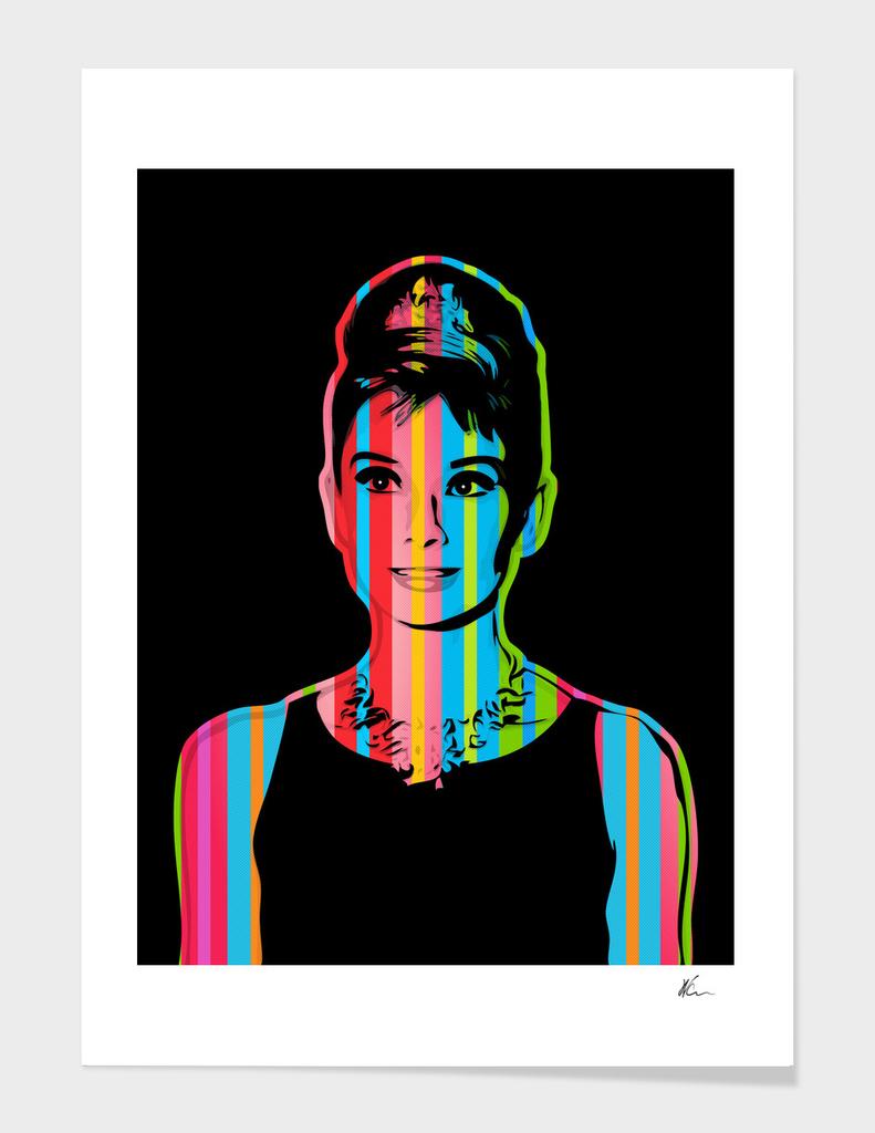 Audrey Hepburn | Dark | Pop Art