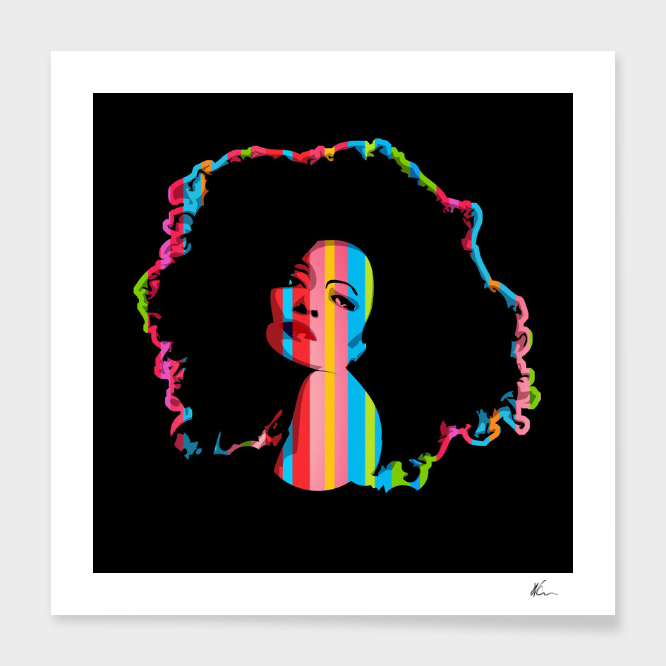 Diana Ross | Dark | Pop Art