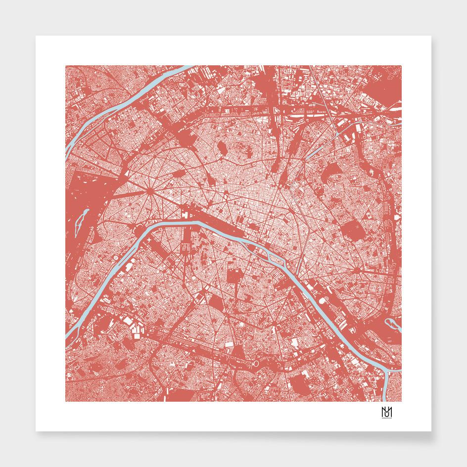 Paris (pink) main illustration
