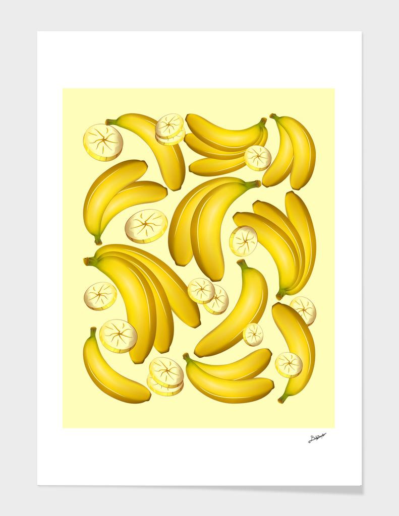 Banana Fruity Pattern main illustration