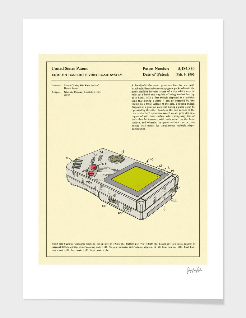 Video Game Patent - 1993 main illustration