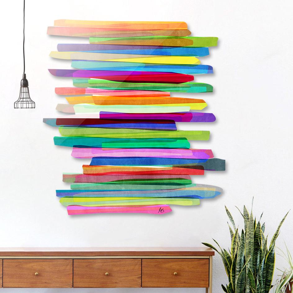 Colorful Stripes 1 main illustration