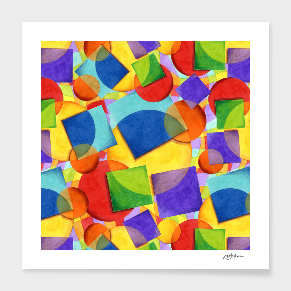 Rainbow Candy Geometric main illustration