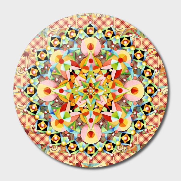 Bijoux Carousel Mandala main illustration