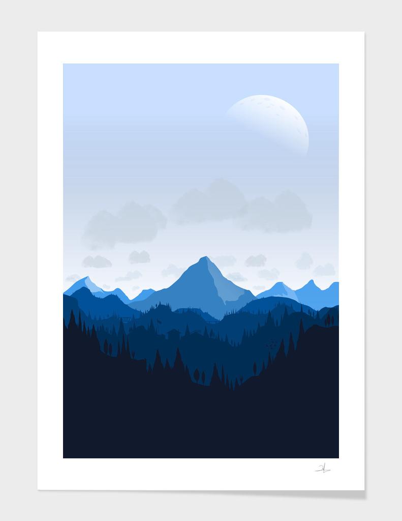 The Blue Mountain Range