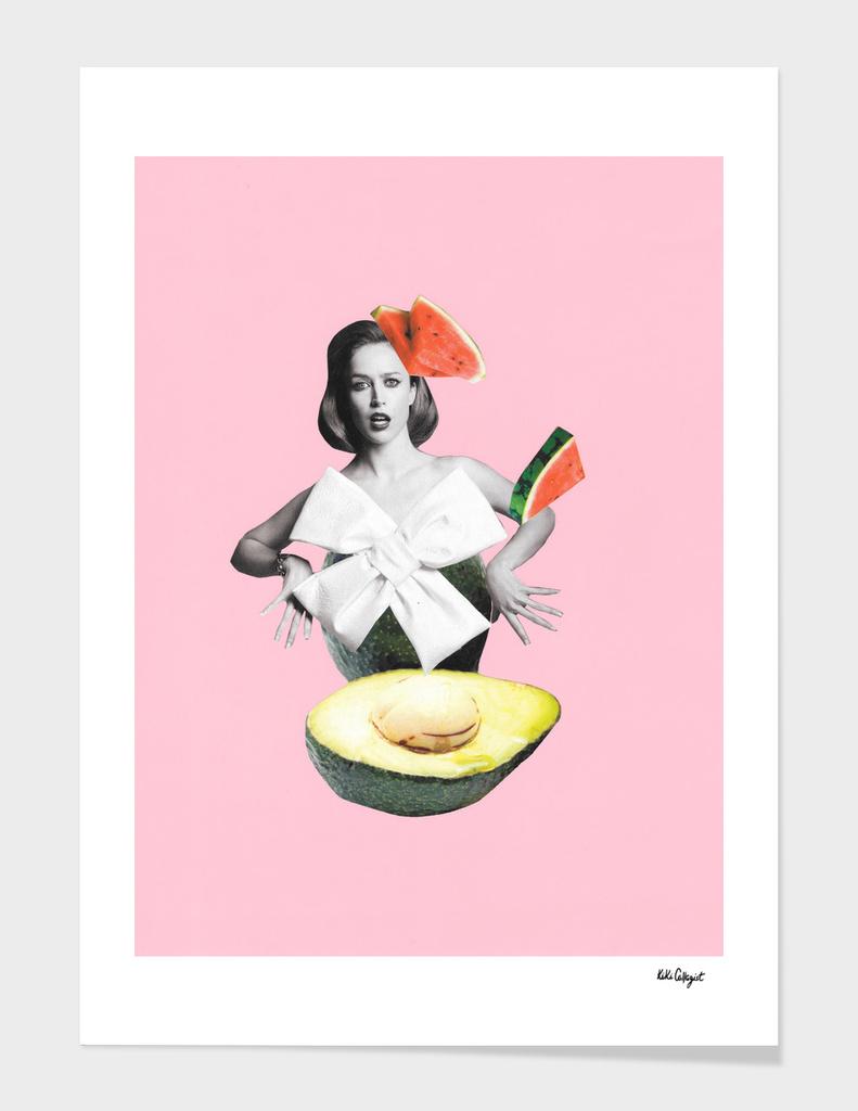 roly poly avocado main illustration