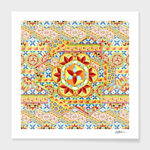 Boho Chic Hexagons main illustration