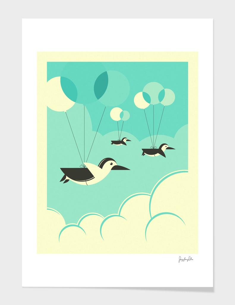 Flock of Penguins main illustration