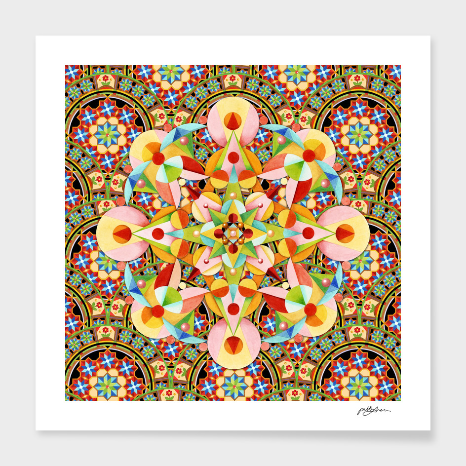 Playing Card Mandala main illustration
