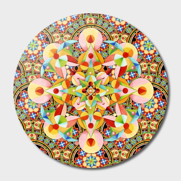 Playing Card Mandala main illustration