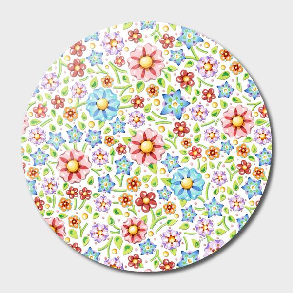 Ditsy Millefiori Floral main illustration