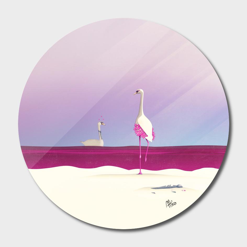 Flamingo Fatale main illustration