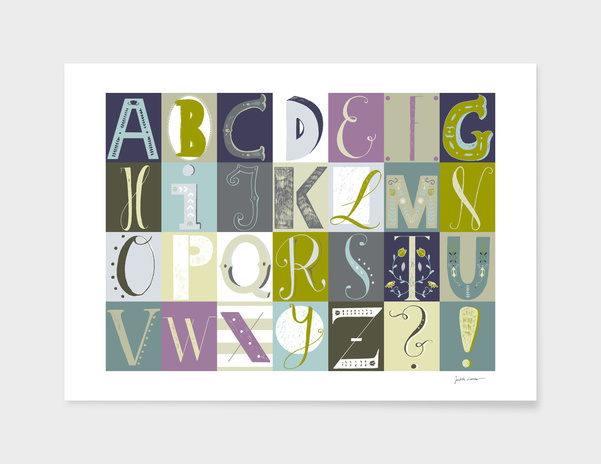 Alphabet blue/green main illustration