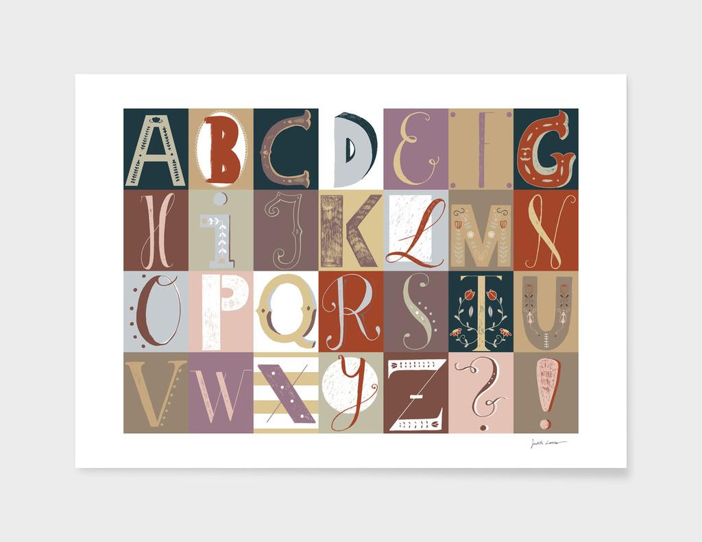 Alphabet red/violet main illustration