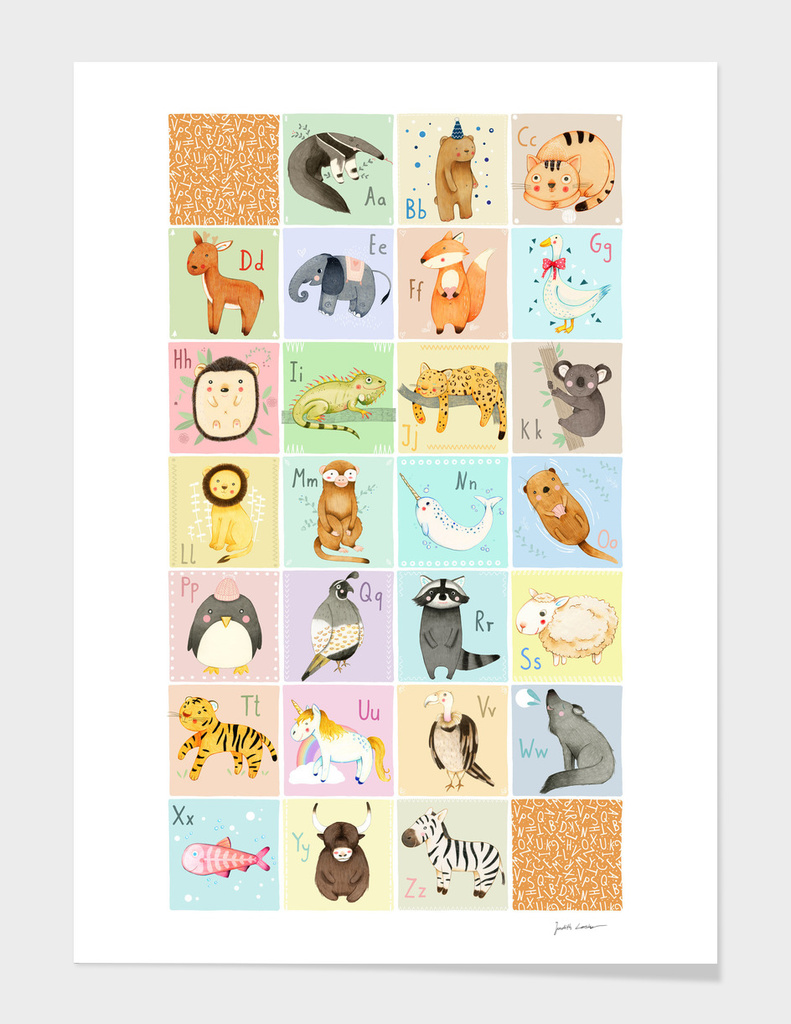 English Animal Alphabet