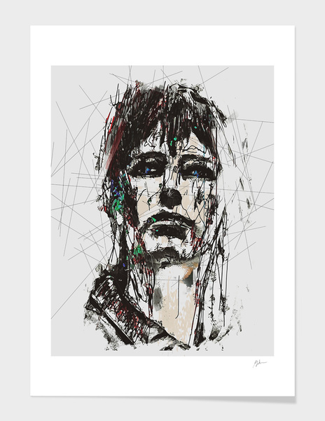 Staggered Abstract Portrait main illustration