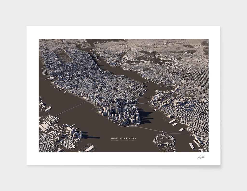 3D New York City main illustration