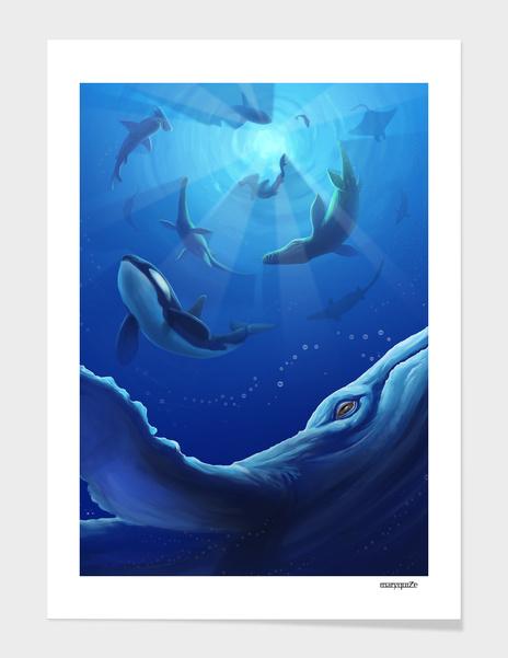 Deep blue sea main illustration