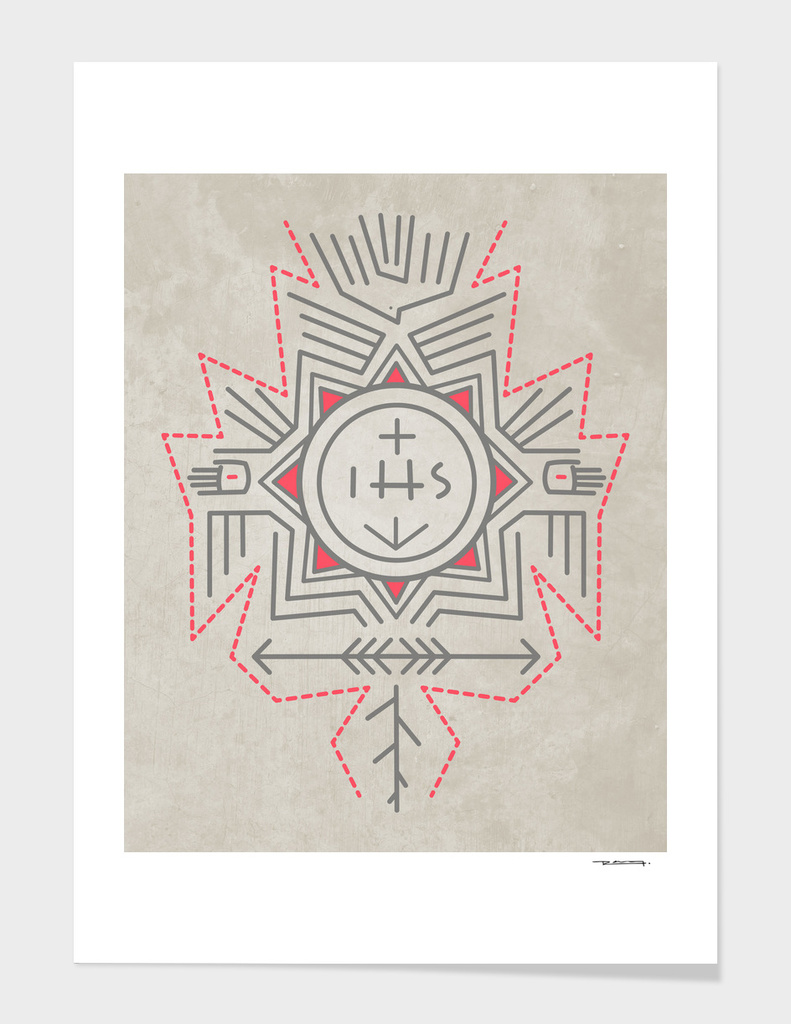 Ihs religious jesuit symbol limited edition art print by ihs religious jesuit symbol biocorpaavc