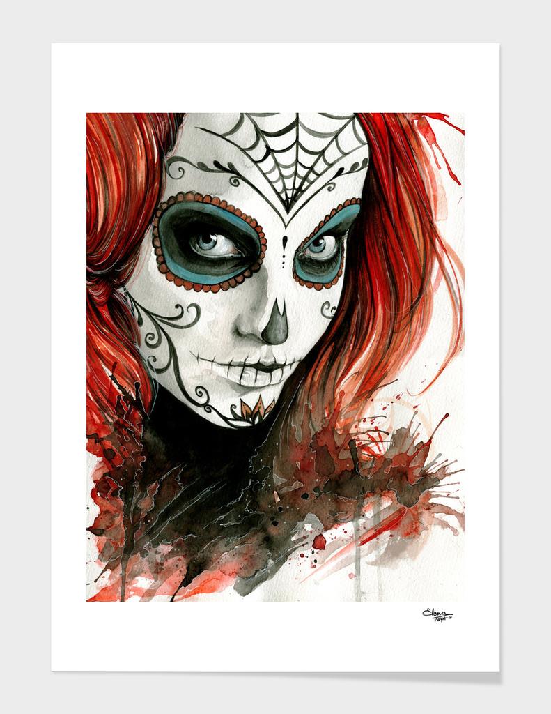 Dia de los muertos main illustration