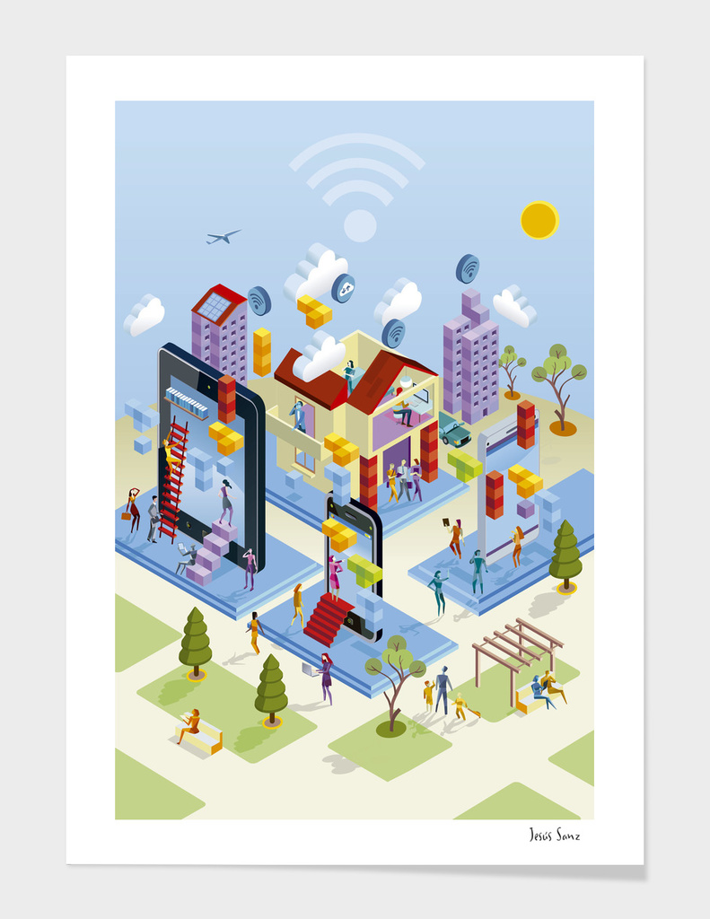 Isometric Wireless City