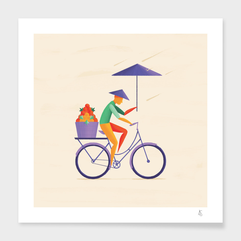 Sri Lanka -  Cyclist main illustration