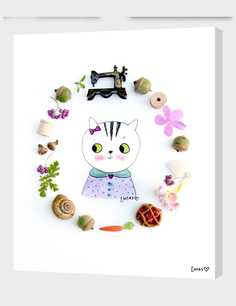 Zoe the Tabby Cat main illustration