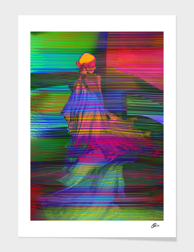 IN BETWEEN THE THIN LINES WALL ART PRINT main illustration