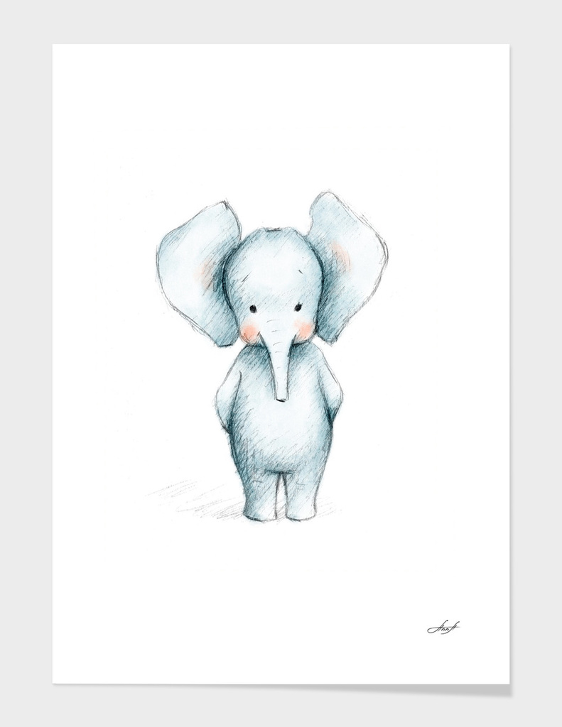 Baby Elephant main illustration