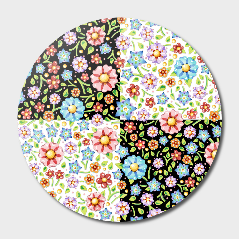 Millefiori Floral Checks main illustration